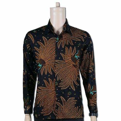 Batik Kemeja Panjang: Kemeja Batik Pria Lengan Panjang Pusaka Dunia