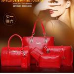 Tas Wanita 6 in 1 Red