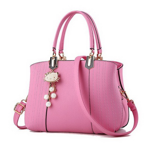 Tas Fashion Wanita Pink Gantungan Hello Kitty