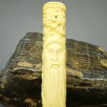 Pipa Rokok Gading Gajah Ukir Naga Koleksi Sesepuh